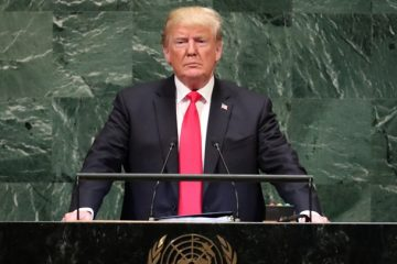 U.S. President Trump addresses the United Nations General Assembly in New York