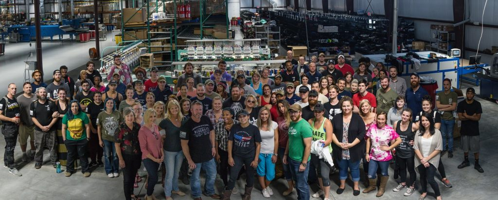 Nine Line Apparel employs over 200 of the most relentlessly patriotic Americans in the US of A!