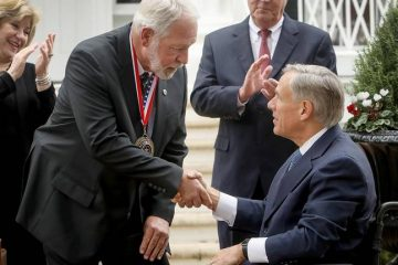 WATCH Here's the moment man who stopped TX church shooting receives state's highest honor