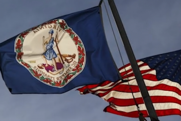 VA flag waving with USA flag assault weapons ban