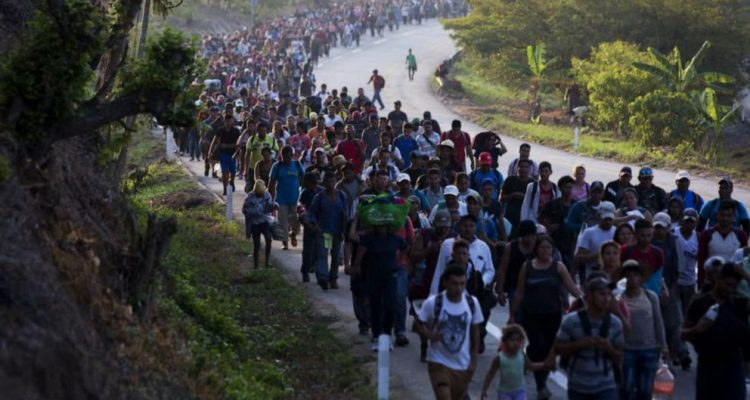 Illegal immigrants walking
